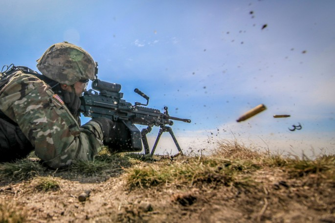 1-114th Infantry Battalion Soldiers conduct battle drills